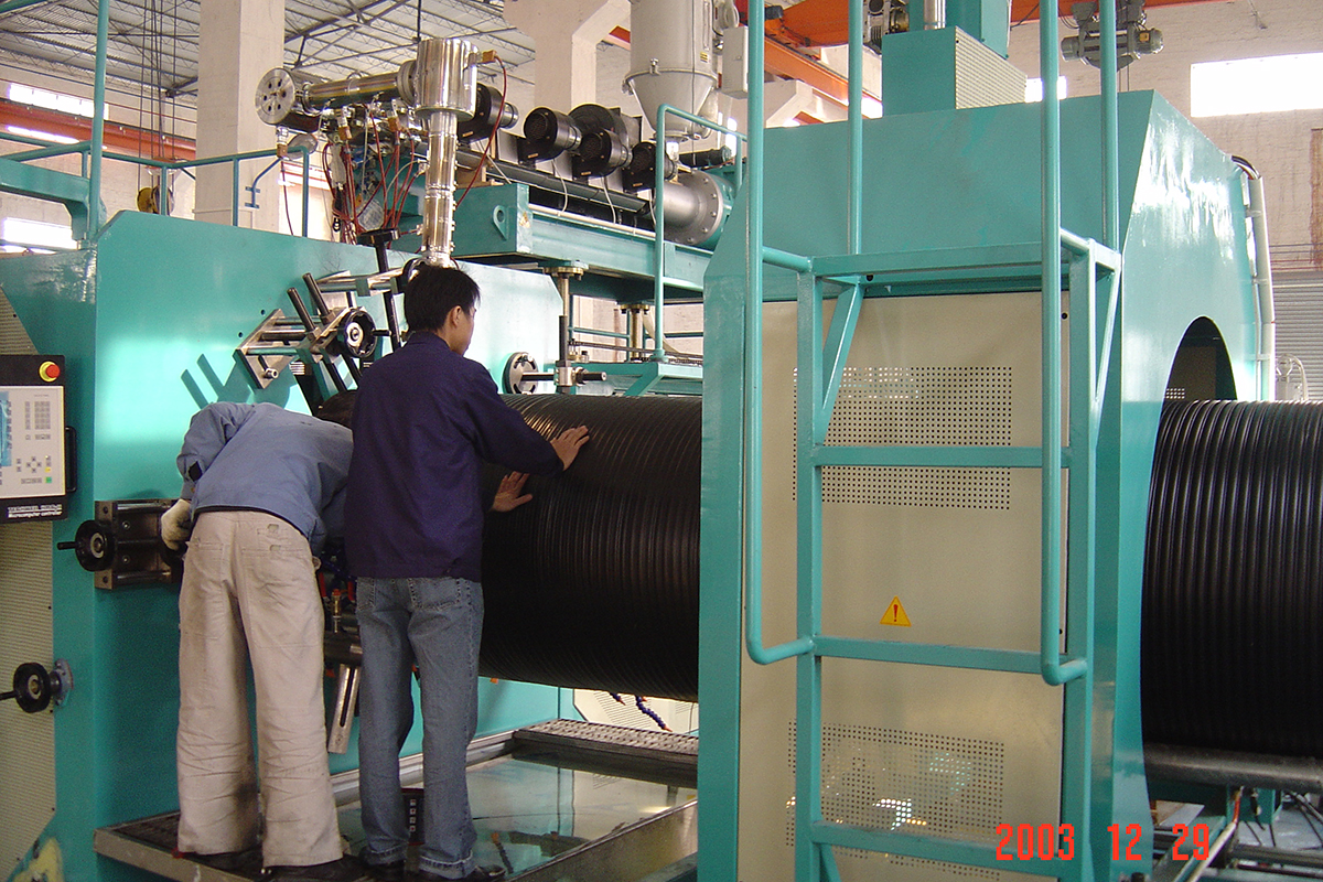 HDPE Hollow Wall Spiral Wound Pipe Production Machine