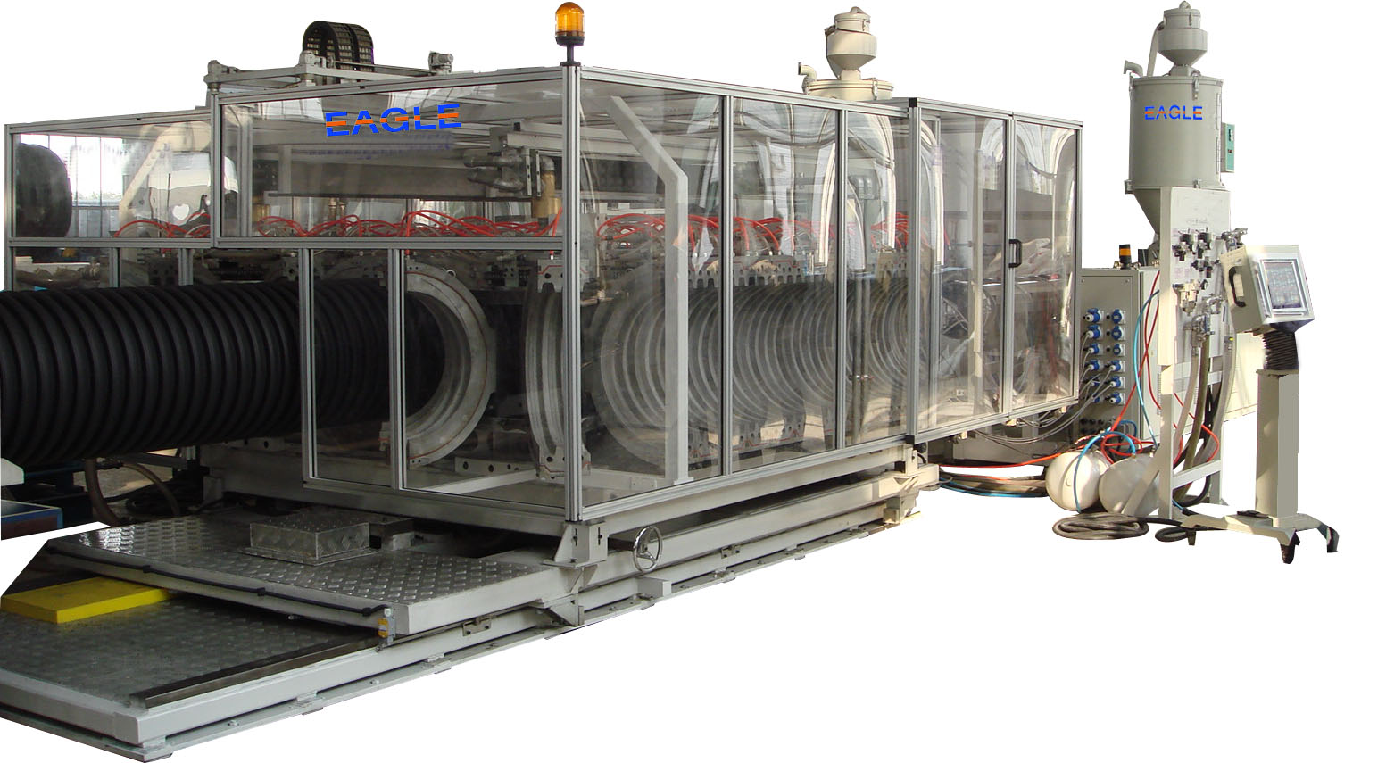 HDPE double walled corrugated pipes machine